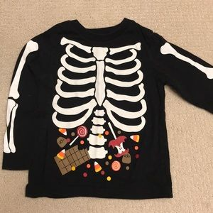 children's place halloween skeleton shirt